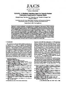 TOTAPOL - ACS Publications - American Chemical Society