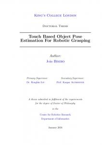 Touch Based Object Pose Estimation For Robotic