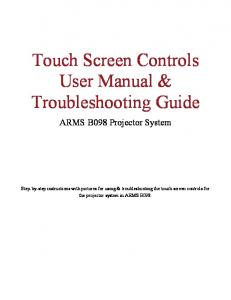 Touch Screen Controls User Manual & Troubleshooting Guide