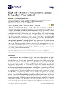 Tough and Self-Healable Nanocomposite Hydrogels for Repeatable