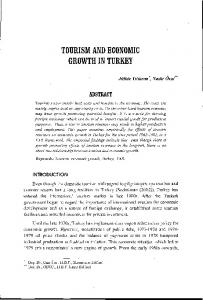 tourism and economic growth in turkey - eJManager