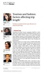 Tourism and fashion: factors affecting trip length1 - Universia Business