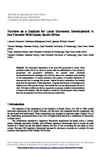 Tourism as a Catalyst for Local Economic Development in the ...