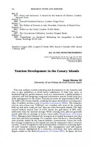 Tourism Development in the Canary Islands