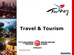 Tourism Industry Report - Invest in Turkey