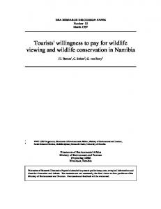 Tourists' willingness to pay for wildlife viewing and wildlife ...