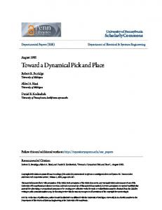 Toward a Dynamical Pick and Place - ScholarlyCommons - University ...