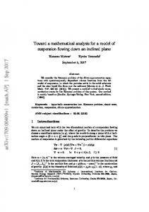 Toward a mathematical analysis for a model of suspension flowing ...