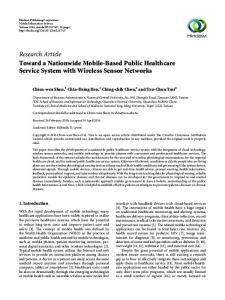 Toward a Nationwide Mobile-Based Public Healthcare Service System ...
