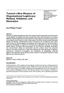 Toward a New Measure of Organizational Legitimacy - HEC Paris