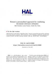 Toward a personalized approach for combining document ... - Hal