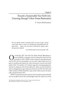 Toward a Sustainable New York City - Urban Ecology Lab