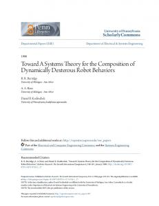 Toward A Systems Theory for the Composition of ... - ScholarlyCommons