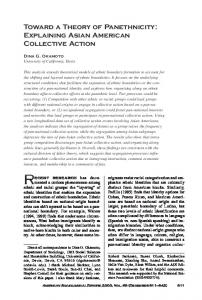 Toward a Theory of Panethnicity: Explaining Asian American ...
