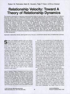Toward A Theory of Relationship Dynamics