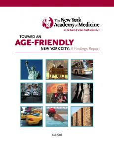 Toward an Age Friendly New York City: A Findings Report