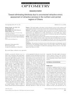 Toward eliminating blindness due to ... - Wiley Online Library