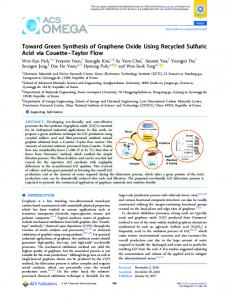 Toward Green Synthesis of Graphene Oxide Using ... - ACS Publications