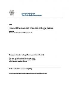 Toward Humanistic Theories of Legal Justice - SSRN papers