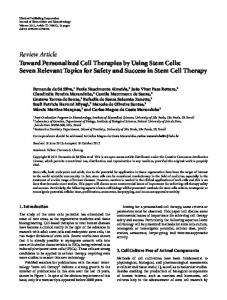 Toward Personalized Cell Therapies by Using Stem Cells: Seven ...