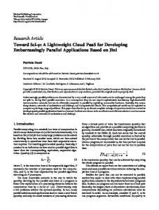 Toward Sci-: A Lightweight Cloud PaaS for Developing ...