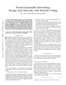 Toward Sustainable Networking: Storage Area ... - DSpace@MIT