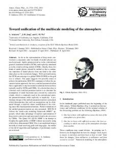 Toward unification of the multiscale modeling of the atmosphere
