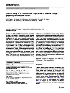 Toward using d C of ecosystem respiration to monitor canopy ...