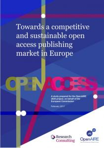 Towards a Competitive and Sustainable OA Market ... - OpenAIRE blog