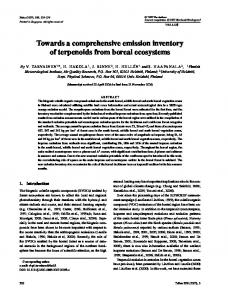 Towards a comprehensive emission inventory of ... - Wiley Online Library