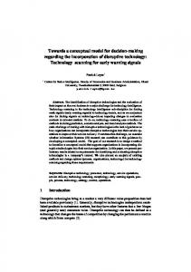 Towards a conceptual model for decision-making ...