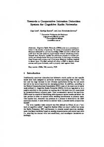 Towards a Cooperative Intrusion Detection System for Cognitive ...