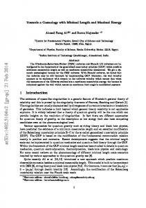 Towards a Cosmology with Minimal Length and Maximal Energy