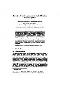 Towards a Dynamic Approach to the Study of Emotions Expressed by ...