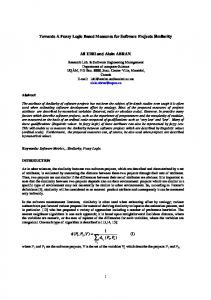 Towards A Fuzzy Logic Based Measures for Software ... - CiteSeerX