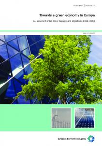 Towards a green economy in Europe - KoWi