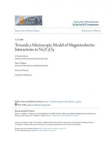 Towards a Microscopic Model of Magnetoelectric