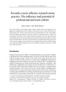 Towards a more reflexive research aware practice: The influence and ...