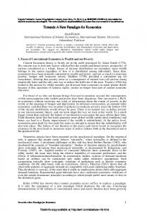 Towards A New Paradigm for Economics - SSRN papers