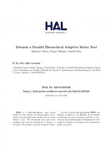 Towards a Parallel Hierarchical Adaptive Solver Tool - HAL Paris 1