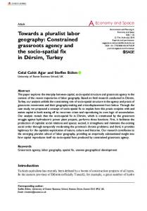 Towards a pluralist labor geography: Constrained ...