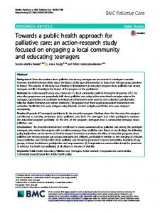 Towards a public health approach for palliative ... - BMC Palliative Care