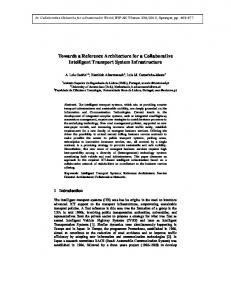 Towards a Reference Architecture for a Collaborative ...