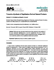 Towards a Synthesis of Naphthalene Derived Natural Products