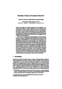 Towards a Theory of Intrusion Detection - CiteSeerX