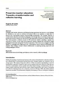 Towards a transformative and reflexive learning