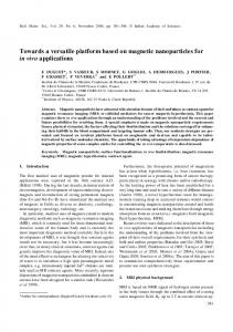 Towards a versatile platform based on magnetic nanoparticles for in ...