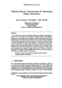 Towards Abstract Interpretation for Recovering Design Information