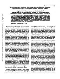 Towards an exact treatment of exchange and correlation in materials