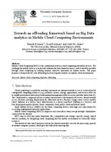 Towards an Offloading Framework based on Big Data ... - ScienceDirect